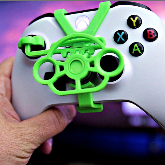 Xbox / PS4 3D Printed Mini Steering Wheel Controller Attachment